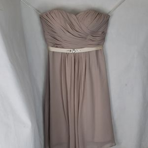 FOREVER YOURS strapless bridesmaid formal dress
